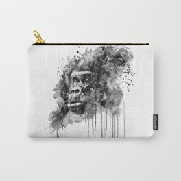 Powerful Gorilla Black and White Carry-All Pouch