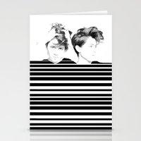 tegan and sara Stationery Cards featuring Tegan & Sara by MeMRB