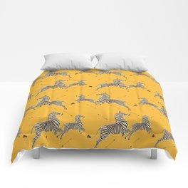Royal Tenenbaums Zebra Wallpaper - Mustard Yellow Comforters