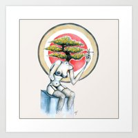 health Art Prints featuring Health by M. Adeline Nef