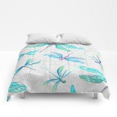 Dragonflies on Paisley Comforters