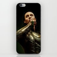 loki iPhone & iPod Skins featuring Loki by Arkarti