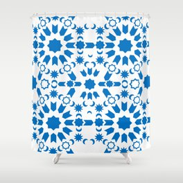 Blue Arabesque Shower Curtain