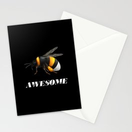 Be awesome - Bee awesome - realistic bee drawing Stationery Cards