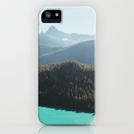 Brilliant Blue Diablo Lake II iPhone Case
