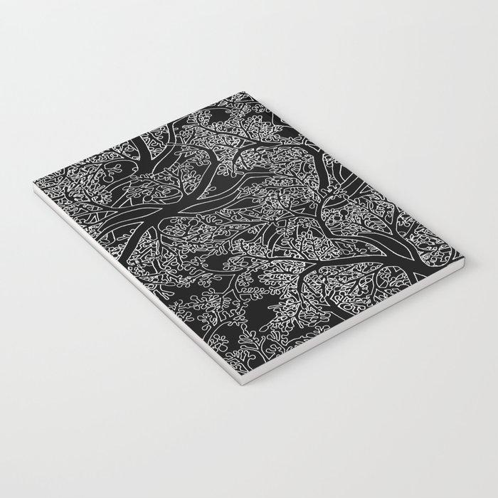 Tree Repeat Black Notebook