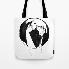 moonlight hands Tote Bag