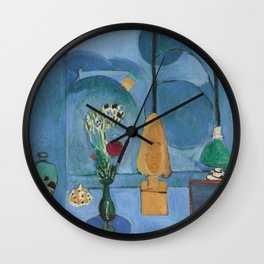 The Blue Window, Issy-les-Moulineaux, 1913 by Henri Matisse, Artwork Design, Poster Tshirt, Tee, Jer Wall Clock
