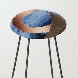 Inspiration: Gold, Copper And Blue Counter Stool