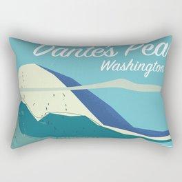 Dante's Peak Washington vintage travel poster Rectangular Pillow