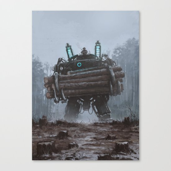 1920 - the destroyer of nature Canvas Print