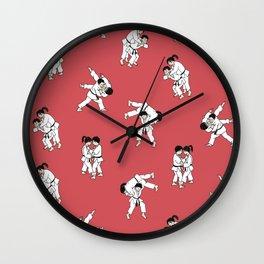 Judo - Red Wall Clock