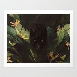 Hello Panther! Art Print