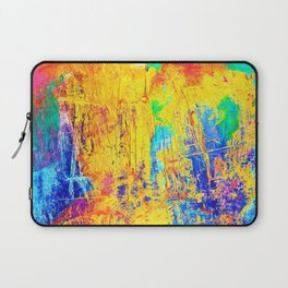 Imaginäre Landschaft - Ölgemälde auf Leinwand Laptop Sleeve