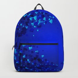 Sea explosive pattern of rhombuses and squares at the depth of the blue ocean. Backpack