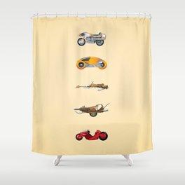 Sci-Fi Bikes: 1980's Shower Curtain