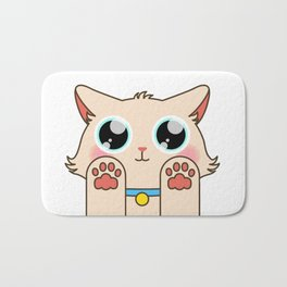 Cream Pastel Cat Bath Mat