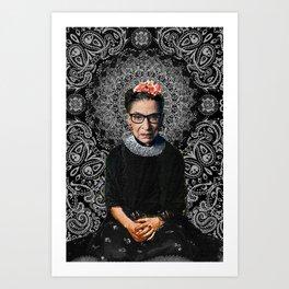 Ruth Bader Ginsburg Frida Art Print