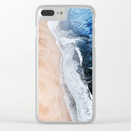 Salty Paths of Waves Clear iPhone Case