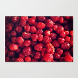 Red strawberries photography Red art Burgundy photography Food photo Summer print decoration Canvas Print