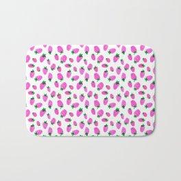 Pink Strawberries by Minikuosi Bath Mat