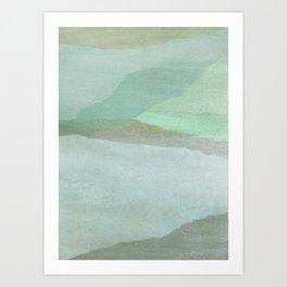 Landscape in Jade Art Print
