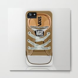 Cute brown Vans all star baby shoes apple iPhone 4 4s 5 5s 5c, ipod, ipad, pillow case and tshirt Metal Print
