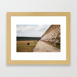 saline tour Framed Art Print