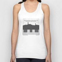 casablanca Tank Tops featuring No192 My Casablanca minimal movie poster by Chungkong
