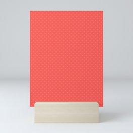 Polka dot coral Mini Art Print