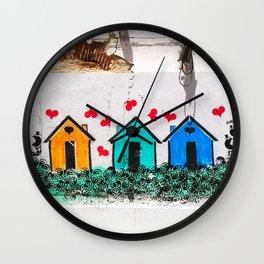 Love Shacks Wall Clock