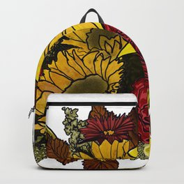 Fall Floral Bouquet Design Backpack