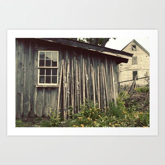 The Wood House Art Print