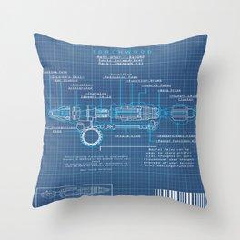 Riversong Screwdriver Blueprint Throw Pillow