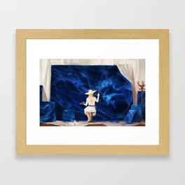 B L U E Framed Art Print