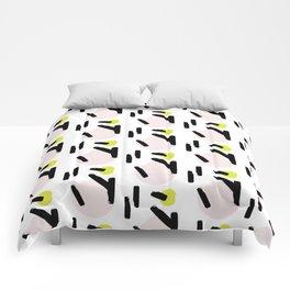 Beige circles Comforters