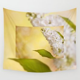 White Syringa vulgaris or lilac Wall Tapestry