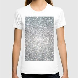 Diamond White Sparkling Jewels Pattern T-shirt