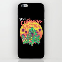 Visit the Comment Section iPhone Skin