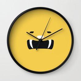 Yellow Ranger Remix Wall Clock