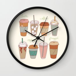 Latte Love Wall Clock