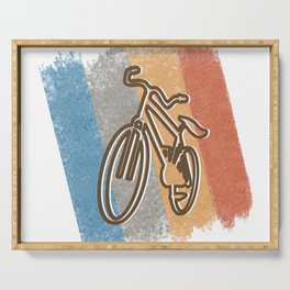 Cycling Cycling Hobby Motive Serving Tray