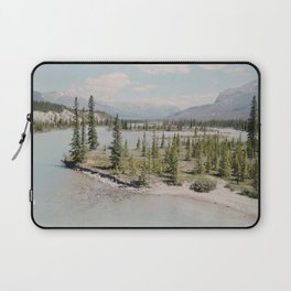 blue river winding Laptop Sleeve
