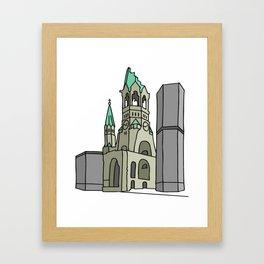 Kaiser Wilhelm Memorial Church Framed Art Print