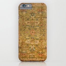 Persian 19th Century Authentic Colorful Muted Green Yellow Blue Vintage Patterns iPhone Case