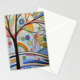Abstract Art Landscape Tree Painting ... The Sound of Sunshine 3 Stationery Cards