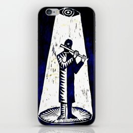 WoodCutter - music figure iPhone Skin