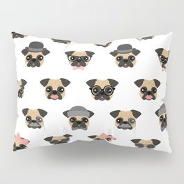 Pugs in Disguise Pattern Pillow Sham