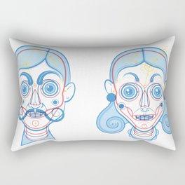 A Rare Girl Rectangular Pillow
