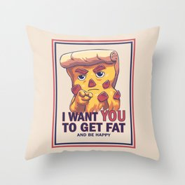 Uncle Pizza Throw Pillow